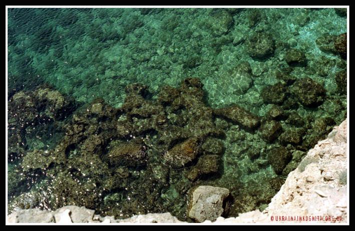 Море на Тарханкуті найпрозоріше