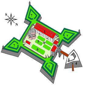 Схема Золочівського замку
