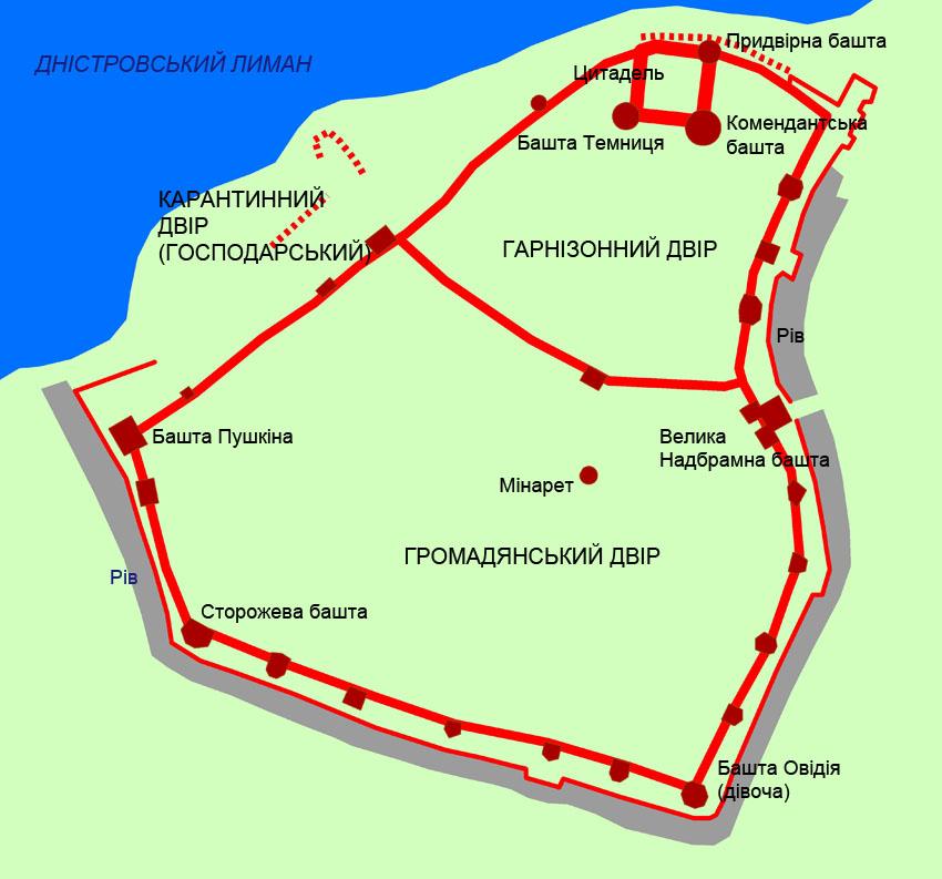 Схема Білгород-Дністровської фортеці