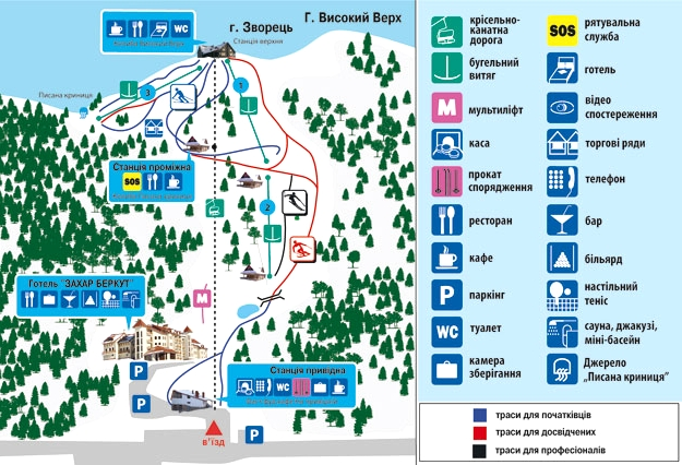 Карта горы Захар Беркут