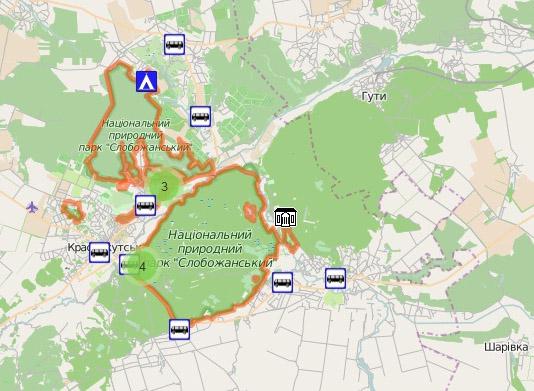 НПП Слобожанський. Карта