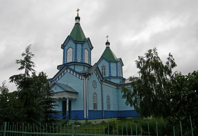 Заворычи. Георгиевская церковь. Фото 1
